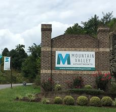 Mountain Valley Apartments Monument Sign
