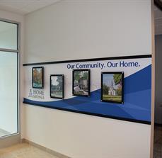 Home Savings Bank Wall Display