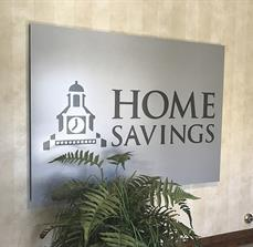 Home Savings Bank Building Sign