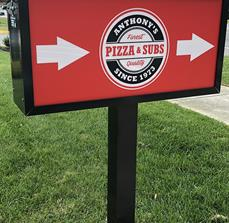 Anthony's Pizza Wayfinding Sign