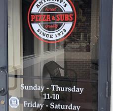 Anthony's Pizza Door Graphics