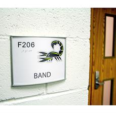 School Band Room Sign