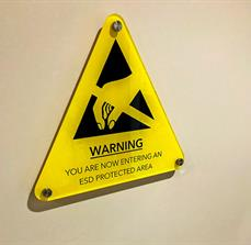 Warning Protected Area Wall Sign