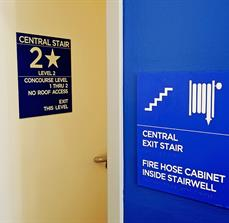 Stair Wayfinding Wall and Door Signage