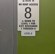 Stair and Floor Level Wall Sign