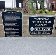 Pool Rules Signage