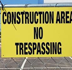 Construction Area Fence Sign