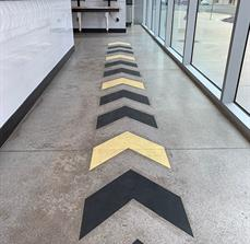 Egg City Directional Floor Graphics