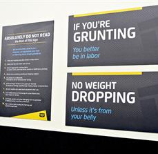 Chuze Fitness Wall Signs