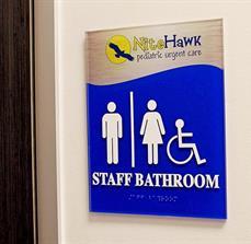 Custom Staff Bathroom Signs