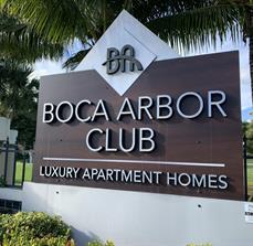 Boca Arbor Club Monument Sign