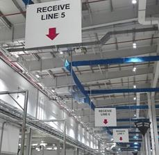 Receive Line Hanging Sign