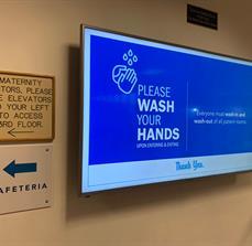 Boca Raton Regional Hospital Digital Display