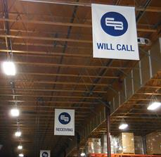 Earl & Brown Hanging Warehouse Signage