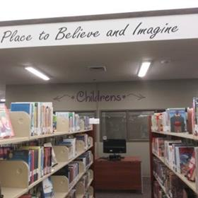 signs for libraries
