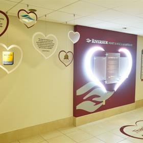 wall mounted signs and floor signs