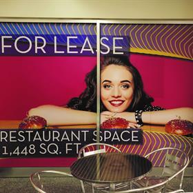 restaurant window signs