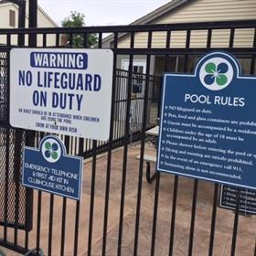 pool ada signs