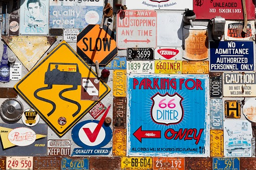 vintage signs for business