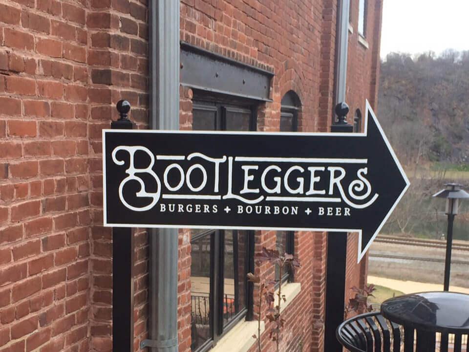 Bootleggers restaurant signage