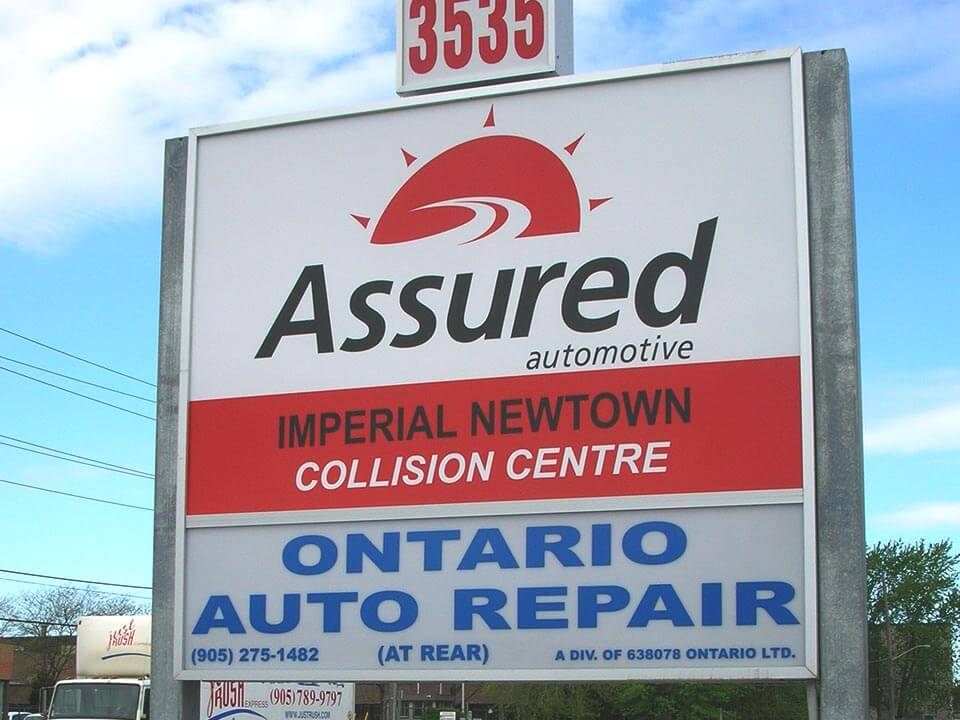 Assured Automotive Monument Sign