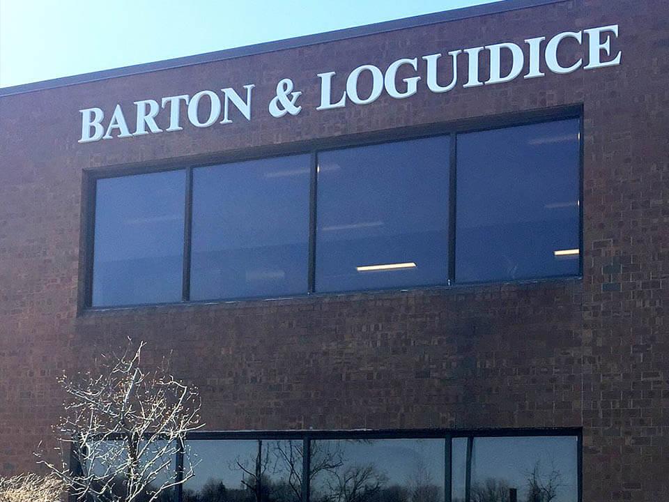 Barton & Loguidice office branding options for corporate headquarters