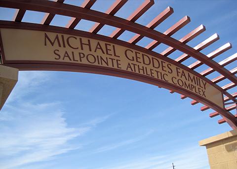 exterior dimensional signage Salpointe Catholic High School