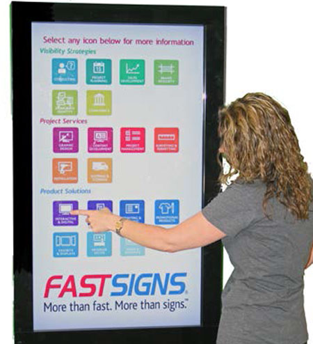 fastsigns_convention_04, digital kiosk