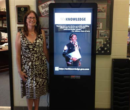 George Walton Academy, Digital Kiosk, Digital Sign