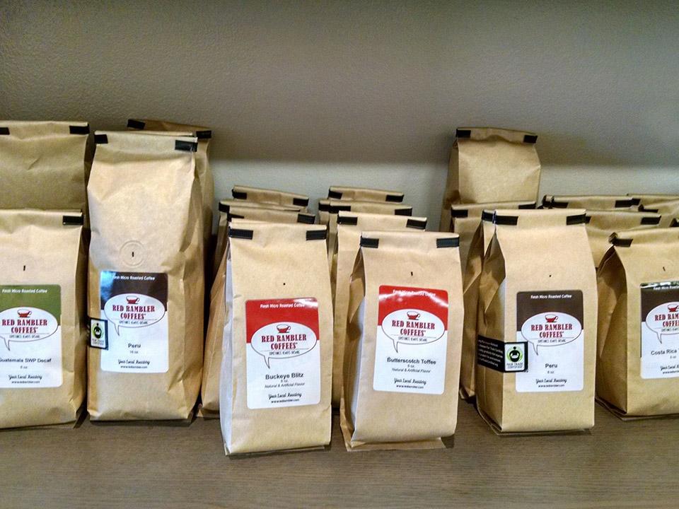 red rambler coffee packaging 2