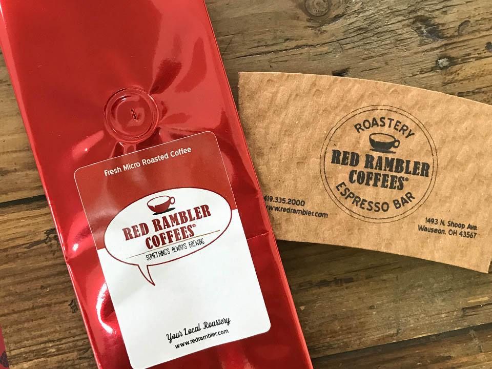 red rambler coffee packaging