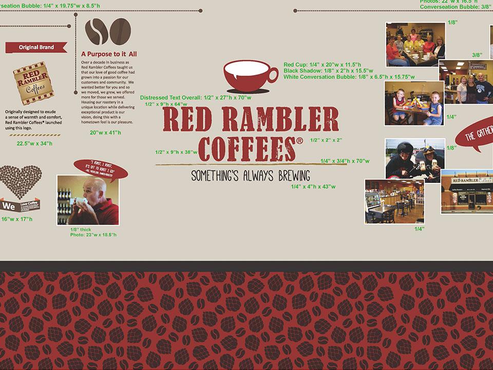 red rambler display