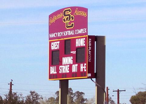 Salpointe Catholic High School, sports signage scoreboard