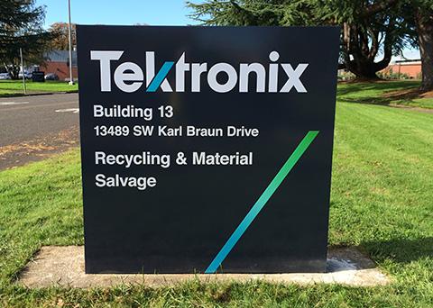 tektronix case study monument sign