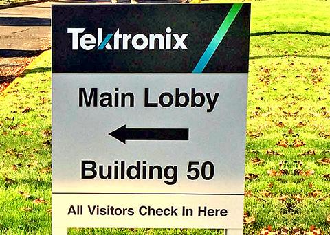tektronix directional signage