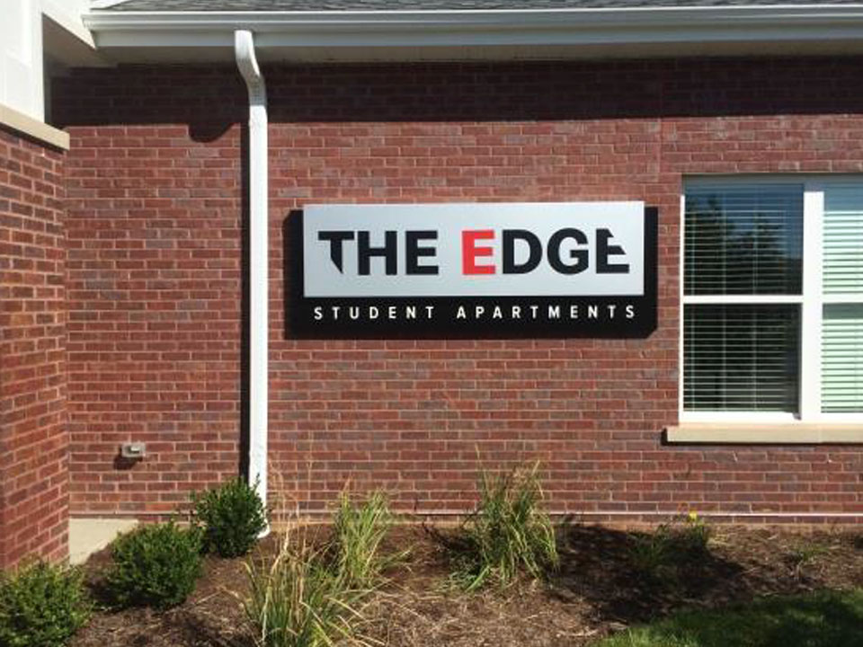 The Edge Wall signage