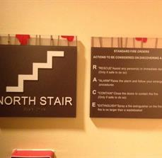 North Stairs/ ADA Sign/ ADA Stair Sign & Emergency Information