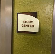 ADA Study Center Sign