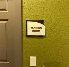 ADA Tanning Room Sign