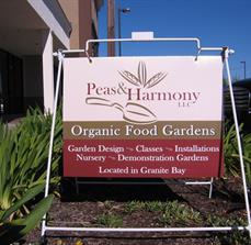 Garden outdoor signage