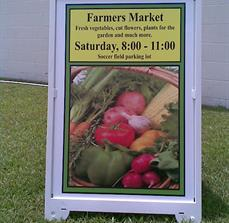 Farmers Market Board Signs
