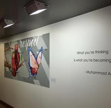 Muhammad Ali Center Wall Graphics and Letters