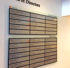 Muhammad Ali Center Board of Directors Wall Plaques