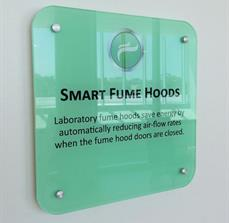 Regulated Air Flow Wall Sign
