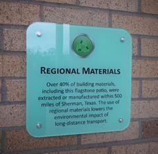 Regional Materials Wall Sign