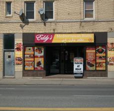 Eddy's Mediterranean Grill Building Signage