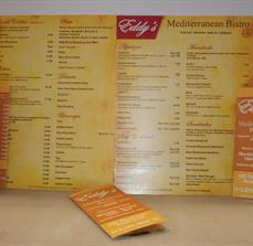 Eddy's Mediterranean Grill Menus and Brochures