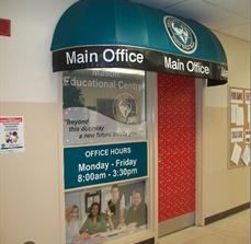 Masons Education Main Office Door Awning