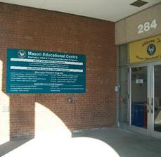 Masons Education Building Sign