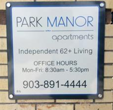 Park Manor Building Sign